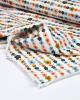 Organic Cotton Jersey Fabric - Daisy Chain White