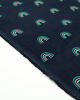 Rainbow Babycord Fabric - Navy