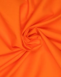 Cotton Poplin Fabric - Orange