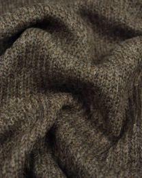 Chunky Knit Wool Fabric - Mushroom