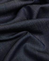 Cotton Chambray Fabric - Dark Blue