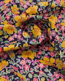 Liberty Tana Lawn Fabric - John in Yellow & Pink
