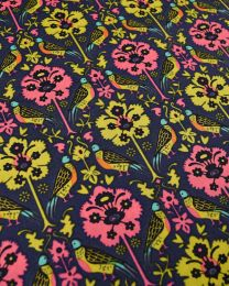 Liberty Tana Lawn Fabric - Byrne in Pink & Chartreuse
