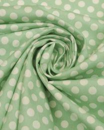Cotton Poplin Fabric - Mint Polka Dot