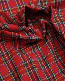 Cotton Fabric - Red Tartan