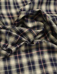 Cotton Fabric - Blue Tartan