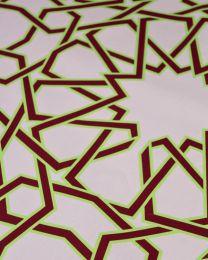 Ex Designer - Cotton Poplin Fabric - Geo Star