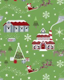 Christmas Patchwork Fabric - Lapland Glow - Xmas Morning