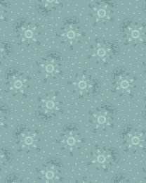 Christmas Patchwork Fabric - North Pole Compass Blue