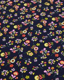 Cotton Babycord Fabric - Kaleidoscope - Folk Flower