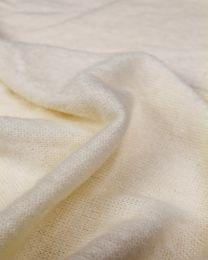 Wool Blend Jersey Knit Fabric - Cream