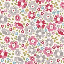 Tilda Patchwork Cotton Fabric - Woodland - Clara Red