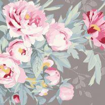 Tilda Patchwork Cotton Fabric - Woodland - Hazel Grey
