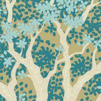 Tilda Patchwork Cotton Fabric - Woodland - Juniper Teal