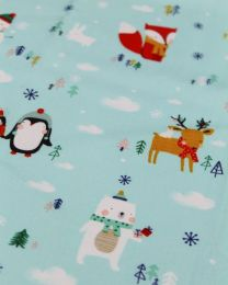 Christmas Patchwork Fabric - Festive Friends - Forest Friends
