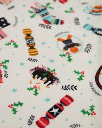 Christmas Patchwork Fabric - Merry Little Christmas - Festive Icons