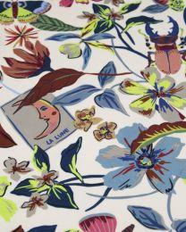 Cotton Marlie Lawn Fabric - Henna Art Blanc
