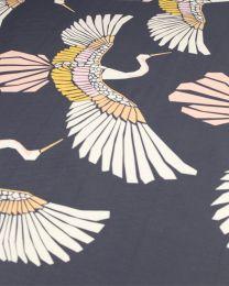 Cotton Sateen Fabric - Marabou Mosaic