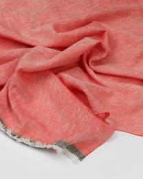 Meloni Chambray Fabric - Vermillion