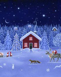 Christmas Patchwork Fabric - December Night