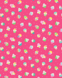 Patchwork Cotton Fabric - Daydream - Cupcakes