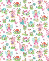 Patchwork Cotton Fabric - Daydream - Fairies