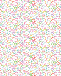 Patchwork Cotton Fabric - Daydream - Hearts