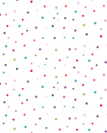 Patchwork Cotton Fabric - Daydream - Multi Star White