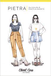 Closet Core - Paper Sewing Pattern - Pietra Pants & Shorts