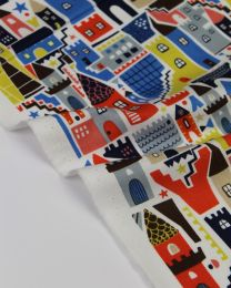 Pure Cotton Fabric - Castles & Keeps