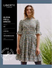 Liberty - Paper Sewing Pattern - Alexa Frill Dress