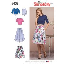 Simplicity Pattern 8609 - Knit Top & Skirt Co-ord