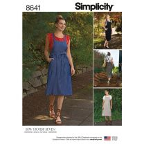 Simplicity x Sew House Seven Pattern 8641 - Paper Bag Pinafore