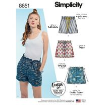 Simplicity Pattern 8651 - Learn to Sew Paper Bag Shorts