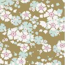 Tilda Patchwork Cotton Fabric - Woodland - Aster Olive