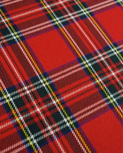 Poly Viscose Fabric - Stewart Tartan