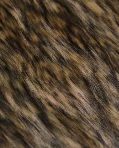 Faux Fur Fabric - Brown Mottle