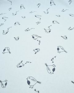 Christmas Cotton Fabric - Sketch Robins Cream