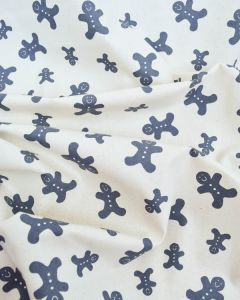 Christmas Cotton Fabric - Gingerbread Scatter Slate