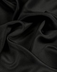 Silk Crepe Fabric - Black