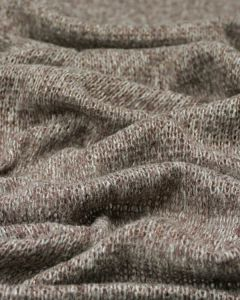 Chunky Knit Jersey Fabric - Brown