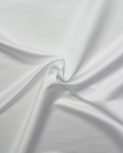 Fine Duchesse Satin Fabric - White
