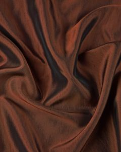 Polyester Satin Fabric - Antique Copper Shimmer