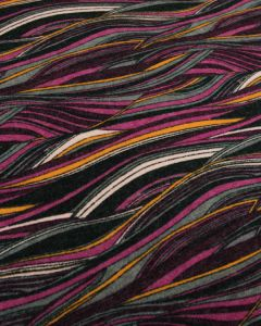 Brushed Jersey Fabric - Fuschia Wave