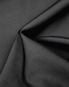 Stretch Wool Suiting Fabric - Black