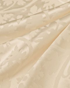 Silk Jacquard Fabric - Vine Leaves Ivory