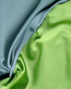 Double Faced Silk Mikado Fabric - Blue & Green