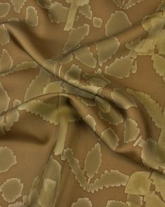 Silk Twill Fabric - Geo Floral Sand