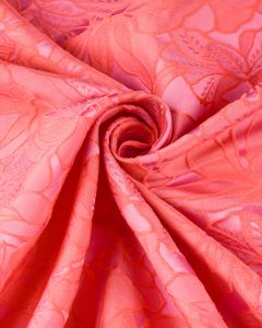 LIMITED EDITION - Polyester Jacquard Fabric - Pink Floral