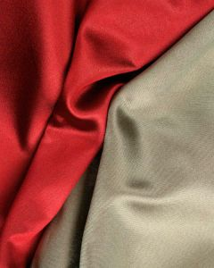 Double Face Silk Mikado Fabric - Red & Gold
